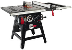 """SawStop 10"""" Contractor Saw, 1.75hp/1ph/110v, with 30"""" Premium Fence System, Rails & Extension Table"""