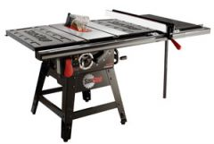 """SawStop 10"""" Contractor Saw, 1.75hp/1ph/110v, with 36"""" Professional T-Glide Fence System, Rails & Extension Table"""