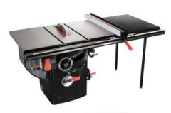 """SawStop 10"""" Professional Cabinet Saw, 1.75hp/1ph/110v, with 52"""" Professional T-Glide Fence System, Rails & Extension Table"""