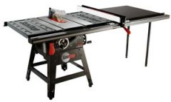 """SawStop 10"""" Contractor Saw, 1.75hp/1ph/110v, with 52"""" Professional T-Glide Fence System, Rails & Extension Table"""